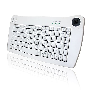 Adesso ACK-5010UW Mini-Trackball Keyboard (White USB)