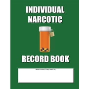 "Createspace ""Individual Narcotic Record Book"" Book"