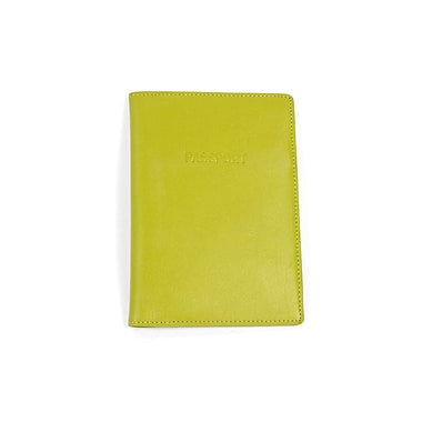 RKW Collection Genuine Leather Passport Cover, Meadow Green