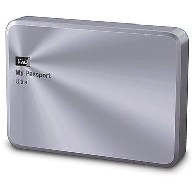 Western Digital® - Solution de stockage de première qualité My Passport Ultra Metal Edition, 2 To, argenté