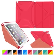 rOOCASE Polyurethane 3D Slim Shell Folio Smart Case Cover for iPad Air 2, Persian Rose/Ruddy Pink