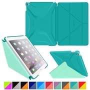 rOOCASE Polyurethane 3D Slim Shell Folio Smart Case Cover for iPad Air 2, Turquoise Blue/Mint Candy