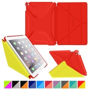 rOOCASE Polyurethane 3D Slim Shell Folio Smart Case Cover for iPad Air 2, Testarossa Red/Tangerine Yellow