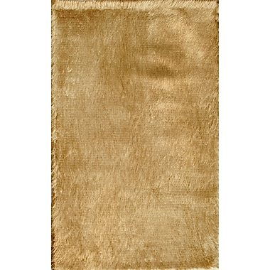 Noble House Crystal Solid Brown Rug; 8' x 11'
