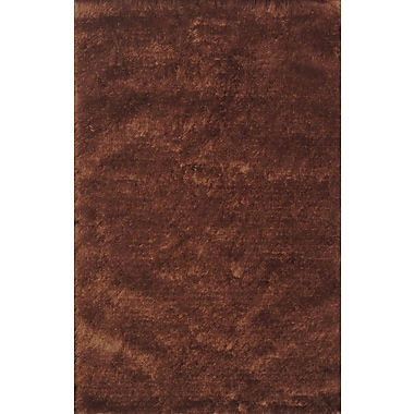 Noble House Crystal Solid Cola Rug; 8' x 11'
