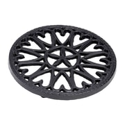 Minuteman 7'' Cast Iron Trivet Sunburst; Blue / Black
