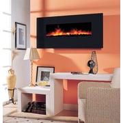 Dynasty Wall Mount Electric Fireplace; 28.38'' H x 58.25'' W x 6.5'' D