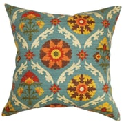 The Pillow Collection Kachine Floral Cotton Throw Pillow; 18'' x 18''