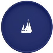 Kraftware Sailboat 16'' Round Serving Tray