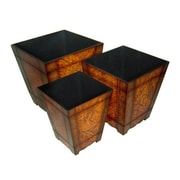 Cheungs 3 Piece Square Planter Box Set (Set of 3)