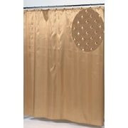 Carnation Home Fashions Lauren Dobby Polyester Fabric Shower Curtain; Gold
