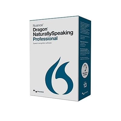 Nuance Dragon NaturallySpeaking v.13.0 Professional Wireless Software 1 User Windows DVD ROM
