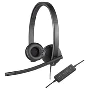 Logitech 981-000574 Wired Stero USB Headset, Black