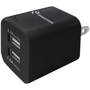 iEssentials IE-ACP-2UC 3.4-Amp Dual USB Wall Charger, Black