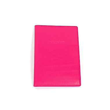 RKW Collection Genuine Leather Passport Cover, Hot pink