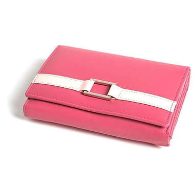 RKW Collection Genuine Leather Purse Wallet, Hot Pink