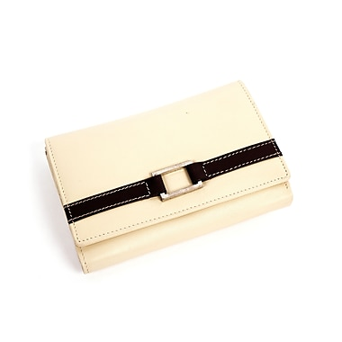 RKW Collection Genuine Leather Purse Wallet, Ivory