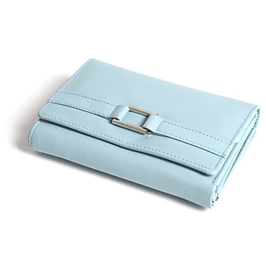 RKW Collection Genuine Leather Purse Wallet, Pale Blue