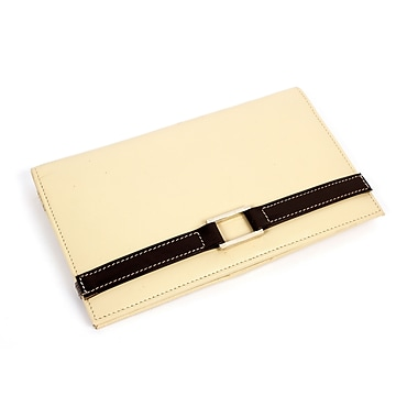 RKW Collection Genuine Leather Travel Wallet, Ivory
