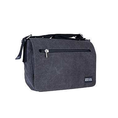Kenneth Cole Flap-Over Messenger Bag, Charcoal