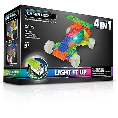 The Laser Pegs® Cars Series 4 in 1 Model Kit