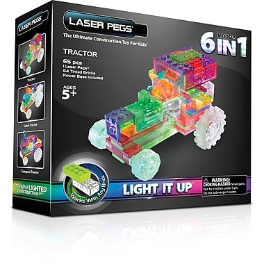 The Laser Pegs® Tractor Series 6 in 1 Model Kit