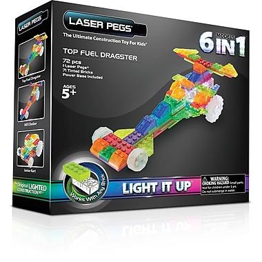 The Laser PegsMD – Trousse de construction 6 en 1, série Dragsters