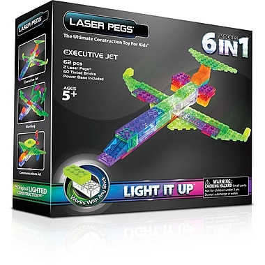 The Laser Pegs® Aircraft Series 6 in 1 Model Kit