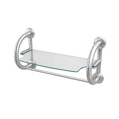 Bios 2-in-1 Grab Bar Shelf, Brushed Nickel