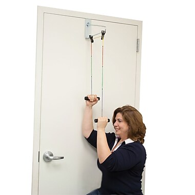 Bios Cando Visualizer Color-Coded Overdoor Shoulder Exerciser, Dual Pulley with Door Bracket