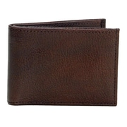 Dr. Koffer Fine Leather Accessories Small Wallet with ID Window; Venetian Brown