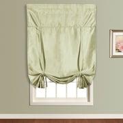 United Curtain Co. Anna Faux Silk Tie-Up Shade; Sage