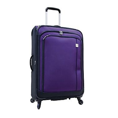 Delsey® – Valise rigide expansible sur roulettes multidirectionnelles Samboro Harmony, 24 po, violet