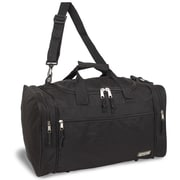 J World Copper 18'' Travel Duffel with Shoulder Strap; Black