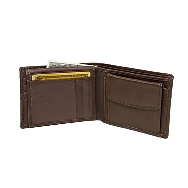 Ashlin® Leather Brayson Men's Wallet, Dark Brown