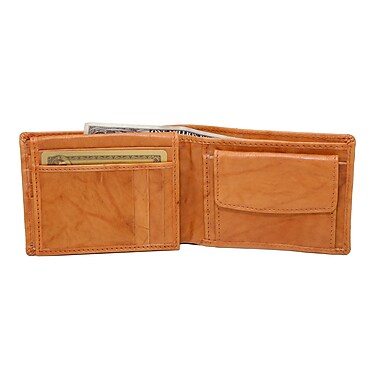 Ashlin® Leather Brayson Men's Wallet, British Tan