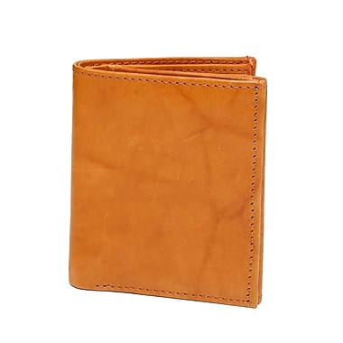 Ashlin® Leather Smithsonian Unisex Double ID Wallet, British Tan