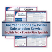 ComplyRight One Year State and Federal Poster Service, Puerto Rico -- English Federal and Spanish State Posters
