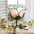 Cape Craftsmen Embossed and Hand Painted Glass Flower 12.4'' H Table Lamp