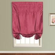 United Curtain Co. Anna Faux Silk Tie-Up Shade; Burgundy