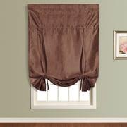 United Curtain Co. Anna Faux Silk Tie-Up Shade; Chocolate