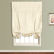 United Curtain Co. Anna Faux Silk Tie-Up Shade; Natural