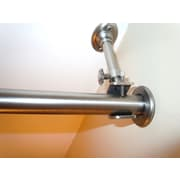 """RoomDividersNow 54"""" - 100"""" Hanging Curtain Rod, Brushed Silver"""