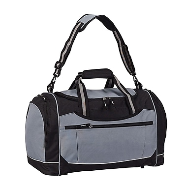 Preferred Nation Travelwell 20'' Gym Duffel with Cooler; Grey