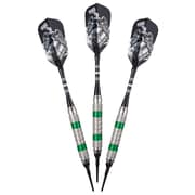 GLD Wind Runner Soft-Tip Darts (Set of 3); Green Pearlized Bands