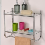 dCOR design Control Brand Two tiered Glass Bath Organizer