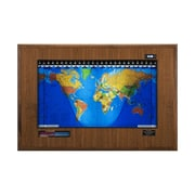 Geochron Geochron Boardroom Model World Wall Clock; Walnut, Black Trim