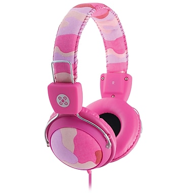Moki ACCHPCAMP Camo Headphones with in-Line Microphone and Control, Pink
