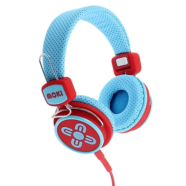 Moki ACCHPKSBR Kid Safe Volume Limited Headphones