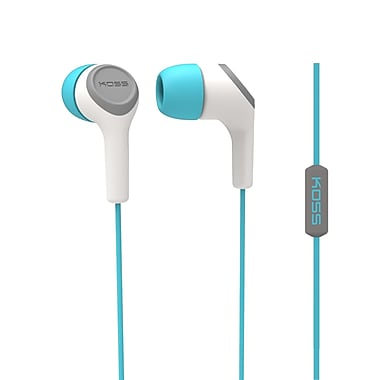 Koss Keb15iit Earbud With Microphone, Teal